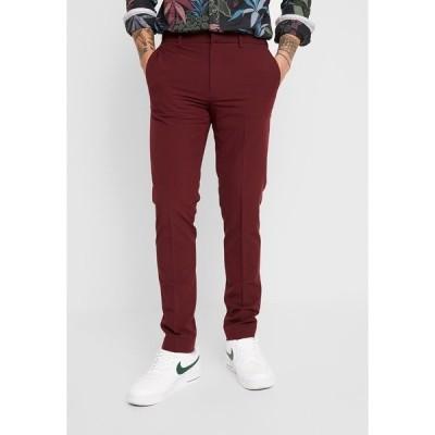 バートン カジュアルパンツ メンズ ボトムス STRETCH - Suit trousers - red
