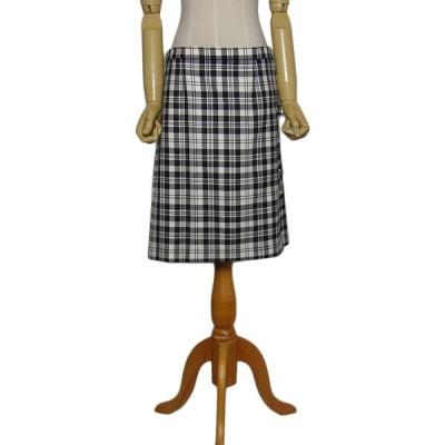 スコットランド製 キルトスカート ウールスカート タータンチェック LOCHCARRON  古着 巻きスカート ラップスカート