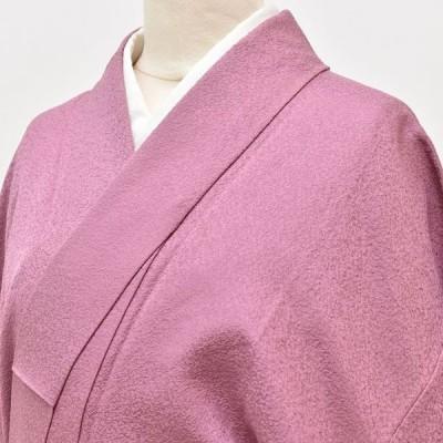 リサイクル 色無地 正絹 縮緬 仕立て上がり 紋付 裄63.5cm 身丈161.4cm 紫色系 pp0210b