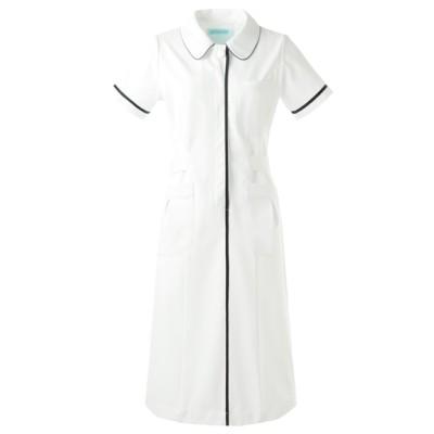 022 KAZEN ワンピース半袖 ナースウェア・白衣・介護ウェア