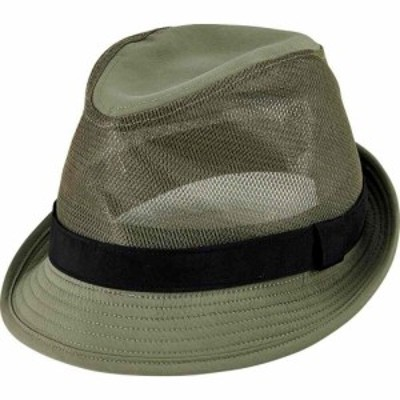 サンディエゴハット San Diego Hat Company メンズ ハット フェドラ 帽子 Cut and Sew Polyester and Mesh Fedora OCM4803 Olive