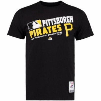 Majestic マジェスティック スポーツ用品  Majestic Pittsburgh Pirates Team Choice Black T-Shirt
