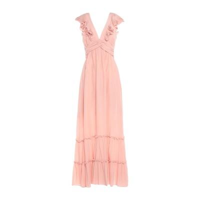 TRAFFIC PEOPLE ロングワンピース&ドレス ピンク S レーヨン 60% / ポリエステル 40% ロングワンピース&ドレス