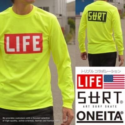 SURT×ONEITA×LIFE ロンT メンズ 長袖 Tシャツ 922-513SRLF1【DAI】■03170905