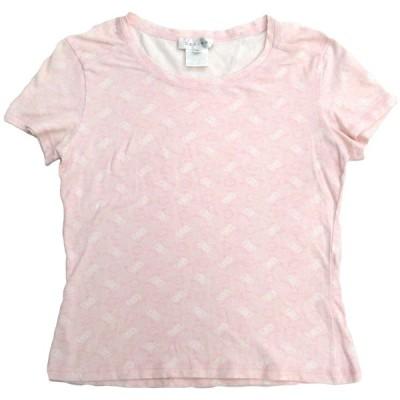 セリーヌ マカダム柄 Tシャツ 総柄 ピンク ホワイト レディース 【アパレル】