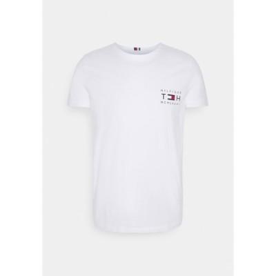 トミー ヒルフィガー Tシャツ メンズ トップス STRETCH SLIM CORP TEE - Basic T-shirt - white