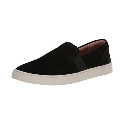 Frye Women's Ivy Scallop Slip On Sneaker, Black, 9 M US【並行輸入品】