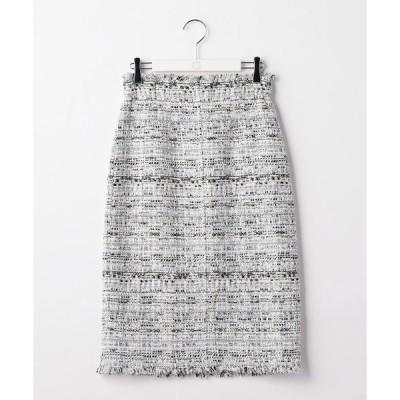 スカート ファンシーツイードハイウエストスカート