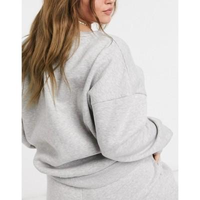 チェルシーピア レディース シャツ トップス Chelsea Peers Curve organic cotton heavy weight lounge sweatshirt in gray marl Gray heather