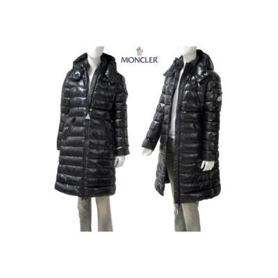 モンクレール MONCLER レディース アウター ダウン ジャケット コート ロゴ MOKA アームポケット・アームロゴ付ダウンコート 黒 (R200200) GB91A