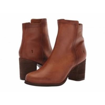Frye フライ レディース 女性用 シューズ 靴 ブーツ アンクル ショートブーツ Addie Inside Zip Cognac【送料無料】