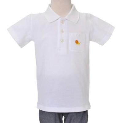 ポロシャツ (半袖) ホワイト×ライオン (刺繍入り) N15008