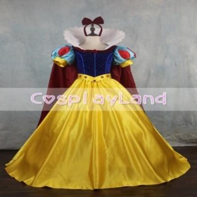 高品質 高級コスプレ衣装 ディズニー 白雪姫 風 プリンセスドレス Princess Snow White Cosplay Costume