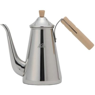 カリタ コーヒーポット ステンレス製 スリム 木柄ハンドル 0.7L TSUBAME&Kalita 700SSW #52202