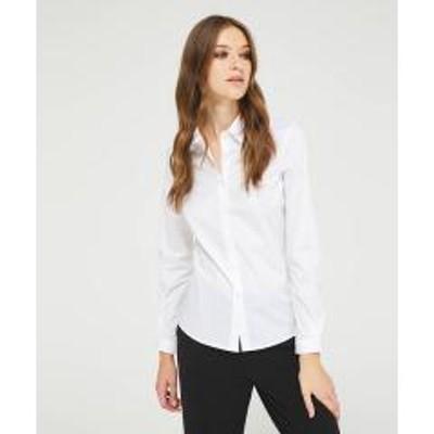 シスレー(ファッション)ストレッチスリムフィットシャツ・ブラウス