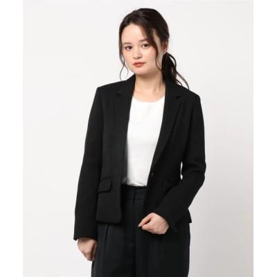 INTERPLANET/actuel / フェイクフランネル(無地)テーラードジャケット WOMEN ジャケット/アウター > テーラードジャケット