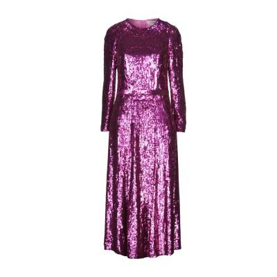 テンパリー・ロンドン TEMPERLEY LONDON 7分丈ワンピース・ドレス フューシャ 14 レーヨン 100% 7分丈ワンピース・ドレス