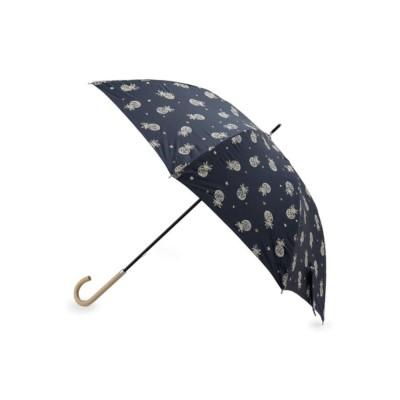 グローブ grove パイナップル柄晴雨兼用傘(長傘) (ネイビー)