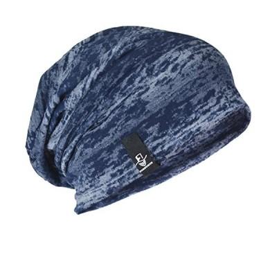 メンズニット帽 ニット帽子 ワッチキャップ 夏 ふわふわ バンダナキャップ サマーニット帽 薄手 B081 (ネイビーブルー) …