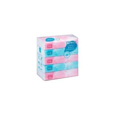 ユニバーサル・ペーパー ハローコンパクトソフトティシュ 150W 業務用箱売り 1箱(5包×18パック)