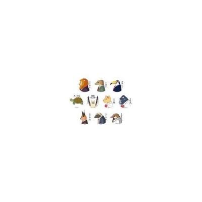 中古バッジ・ピンズ(キャラクター) 全10種セット 「アフリカのサラリーマン トレーディング缶バッジ」