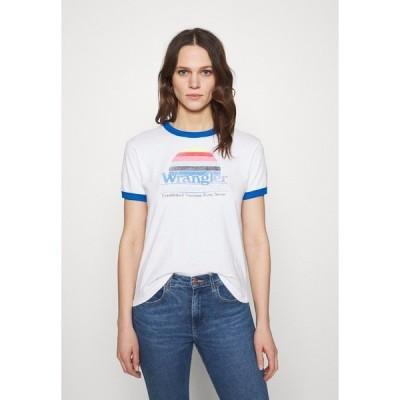 ラングラー Tシャツ レディース トップス RELAXED RINGER - Print T-shirt - white