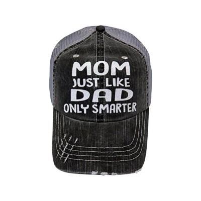 スピリット キャップ ホワイト グリッター Mom Just Like Dad オンリー Smarter グレー Trucker キャ(海外取寄せ品)