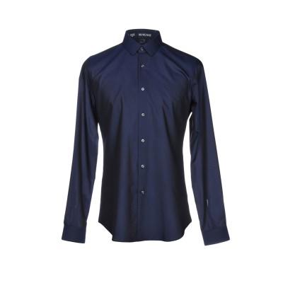 VANGHER N.7 シャツ ダークブルー 43 コットン 55% / シルク 45% シャツ