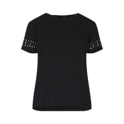 MARIELLA ROSATI T シャツ ブラック XS コットン 95% / ポリウレタン 5% T シャツ