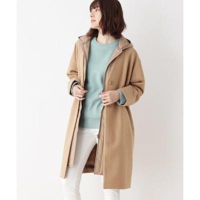 コート チェスターコート 中綿ベスト付きレイヤードコート