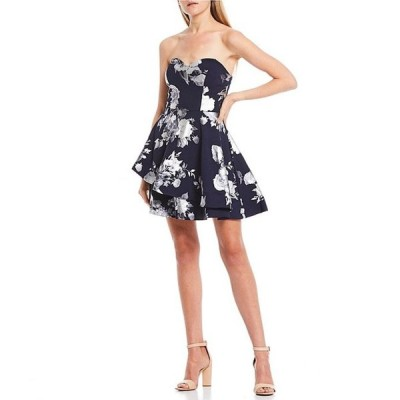 ビーダーリン レディース ワンピース トップス Strapless Foiled Floral Double Hem Dress