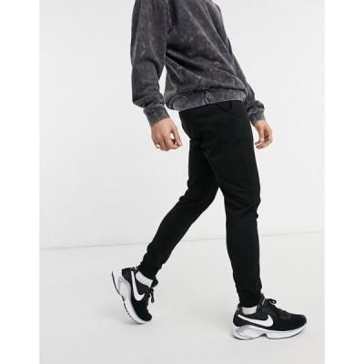 エイソス ASOS DESIGN メンズ ジョガーパンツ スキニー ボトムス・パンツ Asos Design Lightweight Skinny Joggers In Black ブラック