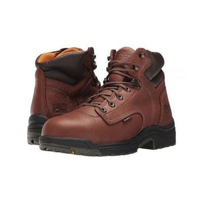 """Timberland PRO ティンバーランド メンズ 男性用 シューズ 靴 ブーツ 安全靴 ワーカーブーツ TITAN(R) 6"""" Alloy Safety Toe - Coffee Full-Grain Leather"""