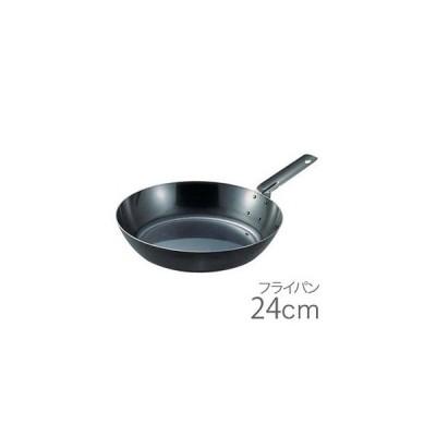 SA鉄黒皮オーブン用厚板フライパン 24cm AHL94024 7-0095-0604 遠藤商事(配送日指定)