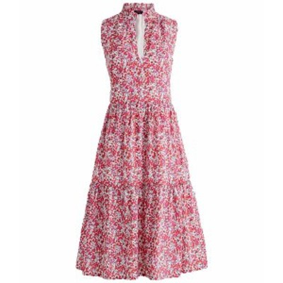 ジェイクルー レディース ワンピース トップス Sleeveless Rebecca Dress in Liberty Berry Multi