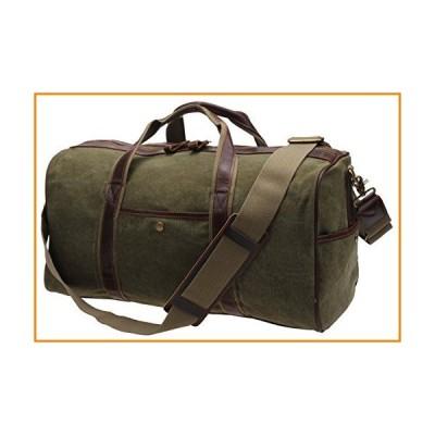 IBLUE Large Canvas Weekend Travel Duffel Bag Overnight Bag Vintage Leather Tote Airplane Carryon Luggage Handbag Gym Sports Shoulder Bag【並行輸