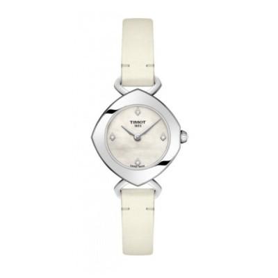 TISSOT[ティソ] T113.109.16.116.01 T-Lady T-レディ FEMINI-T フェミニン-T ホワイトレザーバンド 女性 時計  腕時計