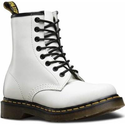 ドクターマーチン レディース ブーツ・レインブーツ シューズ Women's Dr. Martens 1460 8-Eye Boot White Smooth