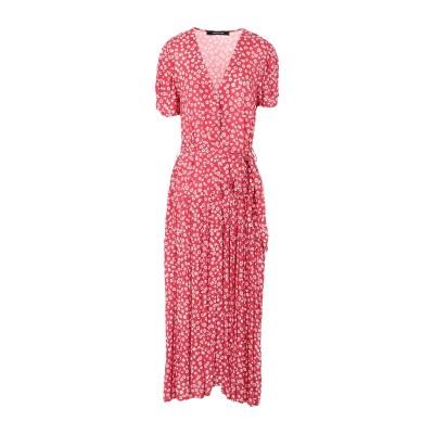 ANDAMANE ロングワンピース&ドレス レッド S レーヨン 100% ロングワンピース&ドレス