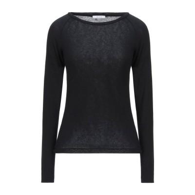 I BLUES T シャツ ブラック XL レーヨン 72% / ウール 24% / ポリウレタン 4% T シャツ