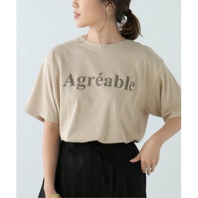 Ray Cassin / ピグメントロゴTシャツ WOMEN トップス > Tシャツ/カットソー