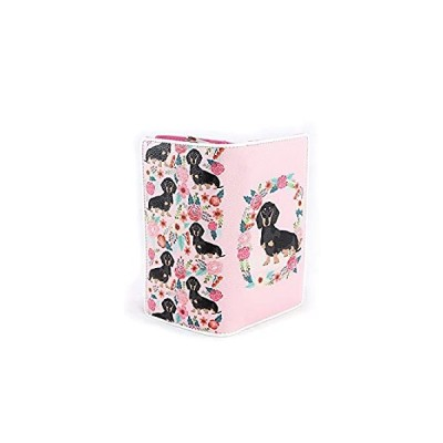 Ashley M - Floral Dachshund Wallet in Vinyl Material