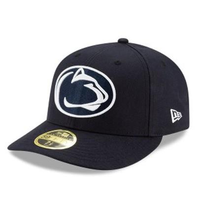 ニューエラ メンズ 帽子 アクセサリー Penn State Nittany Lions New Era Basic Low Profile 59FIFTY Fitted Hat Navy