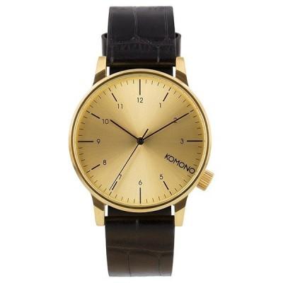 コモノ ユニセックス WINSTON REGAL ブラック クロコ レザー KOM-W2550 腕時計