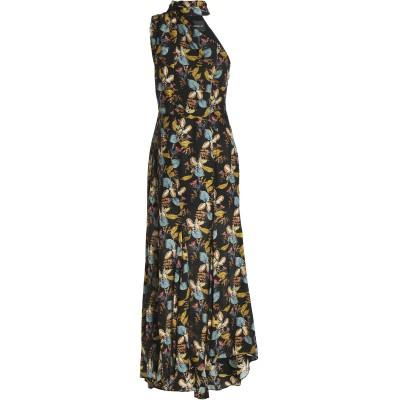 NICHOLAS ロングワンピース&ドレス ブラック 4 シルク 100% ロングワンピース&ドレス
