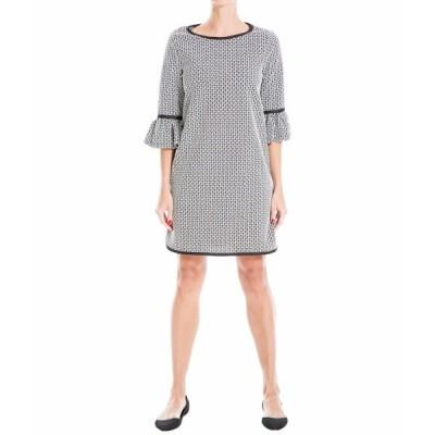 マックススタジオ ワンピース トップス レディース Flared Sleeve Dress Black/Ivory