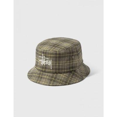 ステューシー Stussy レディース ハット バケットハット 帽子 big logo plaid bucket hat Multicolor