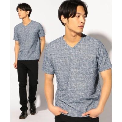 tシャツ Tシャツ VネックランダムパイルパッチポケットTシャツ