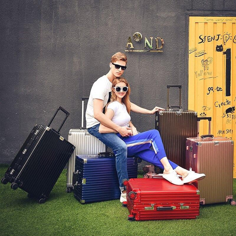 """《箱旅世界》BoxTrip 29吋全鋁鎂合金""""復古款""""行李箱 登機箱  鋁合金旅行箱"""