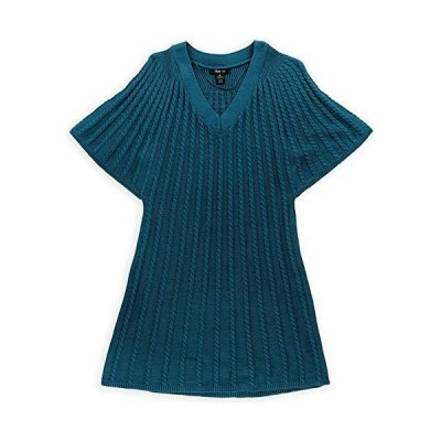 Style & Co. Womens Cable Knit Sweater Vest, Green, Medium並行輸入品 送料無料